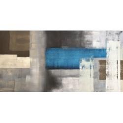 Blue Moon - Alessio Aprile - Quadro Astratto stilizzato dai colori vivaci, Stampa Fine Art su Tela Canvas