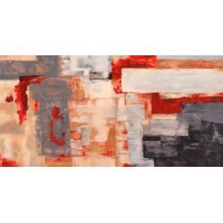 Bronze Flame - Alessio Aprile - Quadro Astratto stilizzato dai colori vivaci, Stampa Fine Art su Tela Canvas