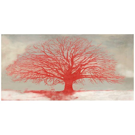 Alessio Aprile Red Tree - Abstract with fantasy and beautyful colors.
