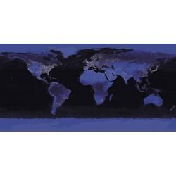 NASA-La Terra di Notte.Bellissimo Quadro con Vista sul Mondo dallo Spazio, Canvas o Poster
