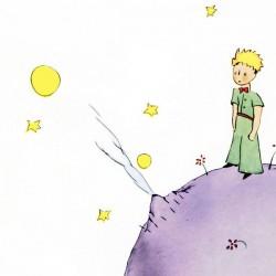 Antoine De Saint-Exupery,Petit Prince 3-Quadro con Piccolo Principe, Originale su Licenza, Misure varie