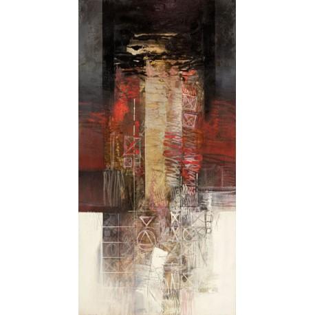 Censini - Sentimenti in rosso Quadro Astratto informale, Stampa Fine Art su Tela Canvas