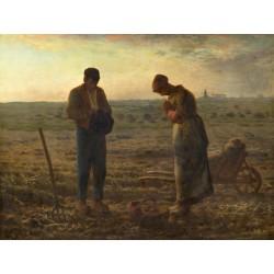 Millet-L'Angelus.Stampa Museale del Celebre Quadro Classico per Camera da Letto