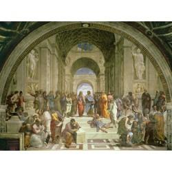 Raffaello-Athen's School. Artistic Paper, 100% Cotton Canvas or Ready-to-hang High Quality Print