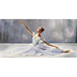 Ballerina,Pierre Benson - Quadro con Danzatrice Classica per Soggiorno o Camera da Letto.Misure e Supporti Diversi