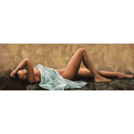 Jannace,Pensiero-Canvas con Nudo di Donna Stesa. Stampa Alta Risoluzione per Living o Camera da Letto