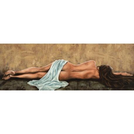 Jannace,Sogno-Canvas con Nudo di Donna di Schiena.Stampa d'Autore per Living o Camera da Letto