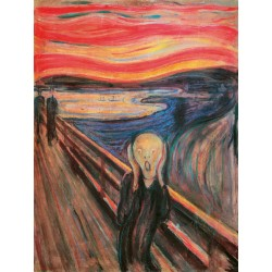 Edvard Munch-The Scream.Ready-to-hang picture in 100% cotton or others. Large variety of size and material