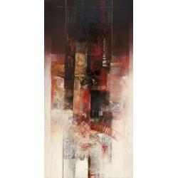Censini - Teorema dei ritmi Quadro Astratto informale, Stampa Fine Art su Tela Canvas