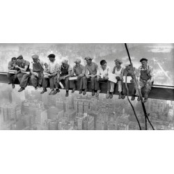 "Ebbets""N.Y.Construction Workers Lunching on a Crossbeam""Very much Famous Picture for Living or Bedroom"