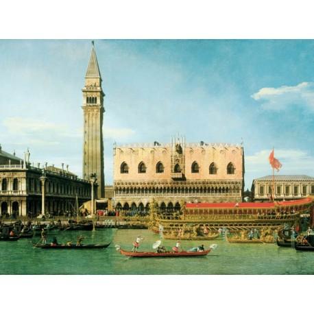 Canaletto-The Bucintoro at The Molo.Stampa Museale ad Alta Risoluzione su Supporti Diversi e Misure a Scelta