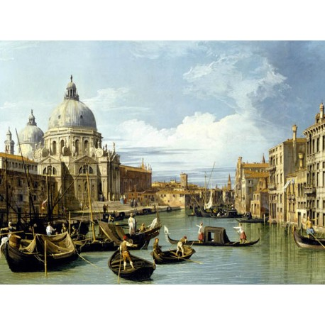 Canaletto-The Entrance to The Grand Canal. Quadro,Canvas o Poster,Stampa HQ in Misure a Scelta per Home Decor