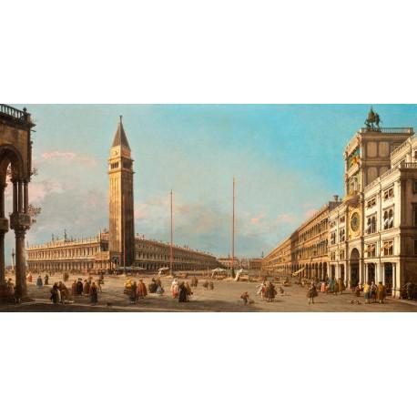 Canaletto.Piazza San Marco Looking South and West-Stampa Museale ad Alta Risoluzione. Supporti e Misure a Scelta