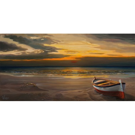 Galasso- Sunset High Resolution Canvas with Matte Retouching Possibilities