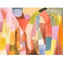 Paul Klee Movement of Vaulted Chambers , Quadro con Stampa Originale Fine Art per Soggiorno, Ufficio o altro
