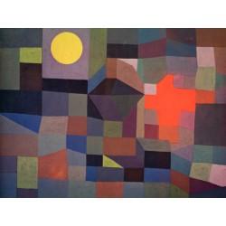 Paul Klee Fire at Full Moon Quadro con Stampa Originale Fine Art per Soggiorno, Ufficio o altro