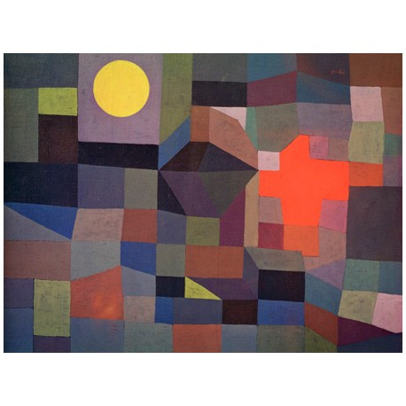 Paul Klee Fire at Full Moon, Ready-to-hang picture in 100% cotton Canvas or Large variety of size and material.