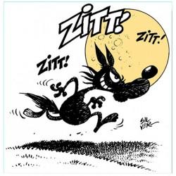 Lupo Alberto/Zitt Zitt!-Quadro Retouchè Pronto da appendere Originale su Licenza Silver/MCK