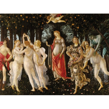 Sandro Botticelli.La Primavera-Stampa Museale ad Alta Risoluzione,Misure Grandi o Piccole