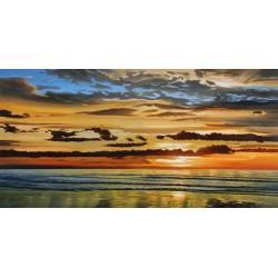 Galasso- Alba sul mare Alta Risoluzione delle Classiche Ninfee su Tela Canvas e possibilità di Ritocco Materico