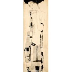 Egon Schiele.Standing Girl-Quadro Classico Verticale in Misure Multiple