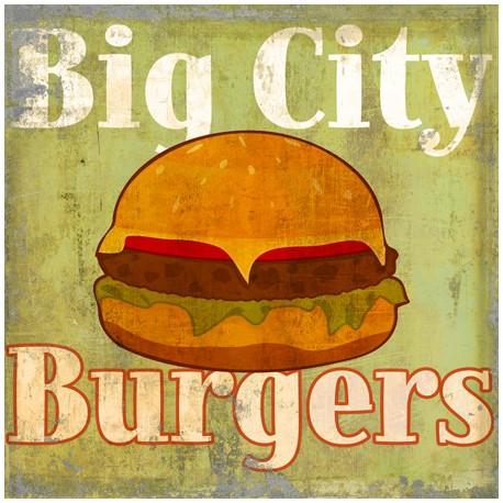 Hamburgers,Skip Teller-Immagine di Design su Canvas,Poster o Quadro Finito per Cucine o altro