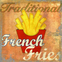 French Fries,Skip Teller-Immagine di Design con classiche patatine su Canvas,Poster o Quadro Finito