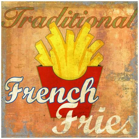 French Fries,Skip Teller-Immagine di Design con classiche patatine su Canvas,Poster o Quadro Finito