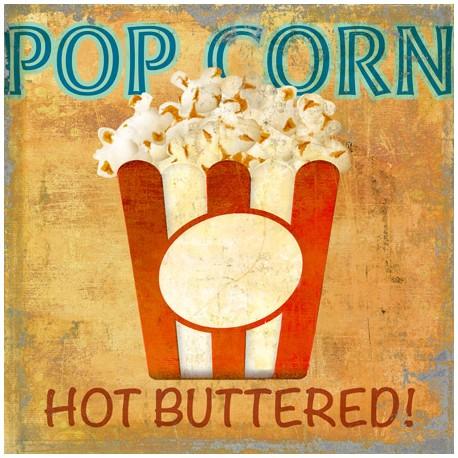 Pop Corn,Skip Teller-Immagine di Design su Canvas,Poster o Quadro Finito, Misure a scelta