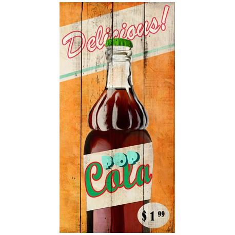 Skip Teller-Delicious!,Quadro Pop con Immagine di Bibita Cola su Tela Canvas, Art Poster o Quadro finito