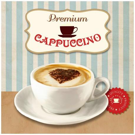 Premium Cappuccino,Skip Teller-Immagine per Home Decor con Misure e Supporti a Scelta