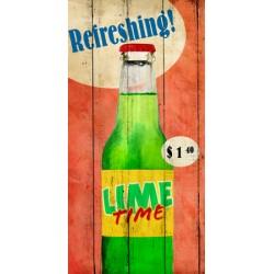 Skip Teller-Refreshing!,Quadro Pop con Immagine di Bibita al limone su Tela Canvas, Art Poster o Quadro finito