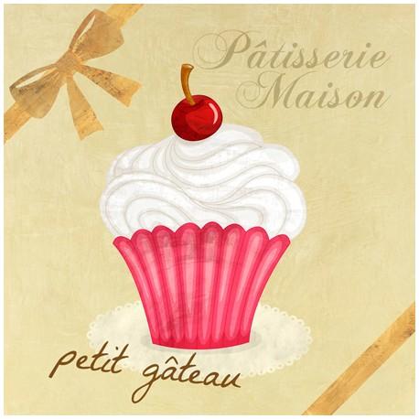 Petit Gateau,Skip Teller-Immagine per Home Decor con Misure e Supporti a Scelta