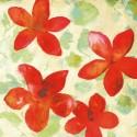 Printemps I - Kelly Parr. Quadro con fiori romantici - Stampa d'Autore su Tela Cotone per Soggiorno o altro