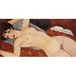 Amedeo Modigliani,Reclining Nude. Quadro Classico con Nudo di Donna per Camera da Letto