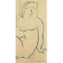 Amedeo Modigliani, Seated Woman. Quadro con Nudo di Donna in verticale, misure varie