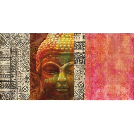 Joannoo, Siddharta. Quadro su Misura con Immagine di Buddha, soli materiali eco-friendly e non tossici