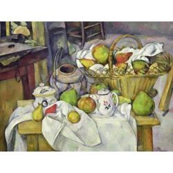 Paul Cezanne-Still Life with Basket (detail).Stampa Museale ad Alta Risoluzione su Supporti Misure a Scelta