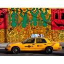 Taxi and mural Paiting, Setboun Michel - Quadro Pronto con Stampa Fine Art per Soggiorno, Ufficio o altro