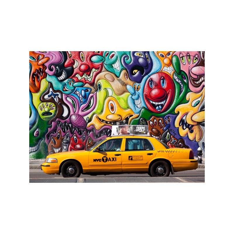 Quadro di design con taxi giallo misure diverse for Ufficio stampa design