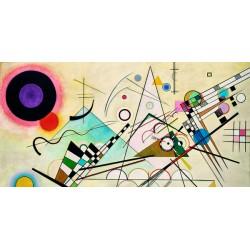 Wassily Kandinsky - Composition VIII Quadro Pronto con Stampa Fine Art per Soggiorno, Ufficio ed altro