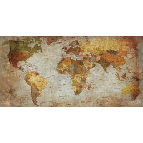 Joannoo,Anima Mundi-Awesome On Demand picture with ancient world map in a Shabby Chic style
