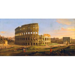 Gaspar Van Wittel,Veduta del Colosseo. On Demand Picture for Home Decor Use